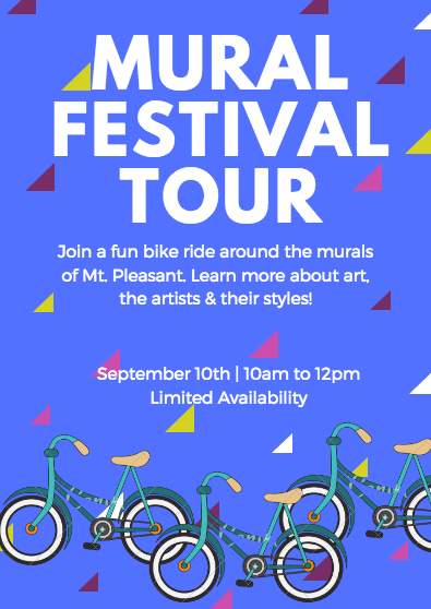 guided biking tour mural fest