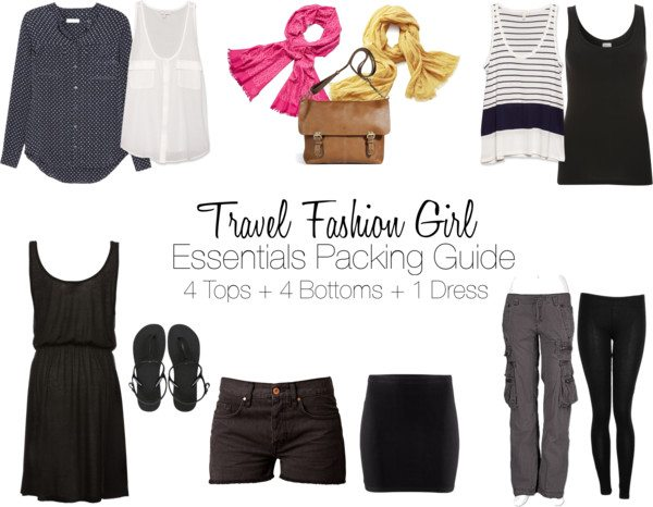travel fashion girl packing list