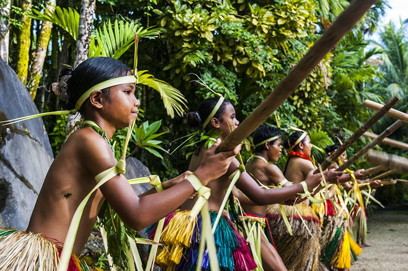 Stick dance from the tribal people of the island of Yap, Micronesia