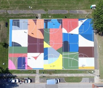 Artistic Basketball Court Murals Livening Up North America's Communities