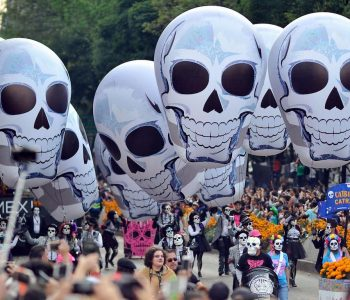Mexico City's Day of the Dead Celebration Draws a Crowd of Thousands